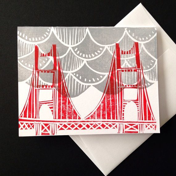 Golden Gate Fog Card