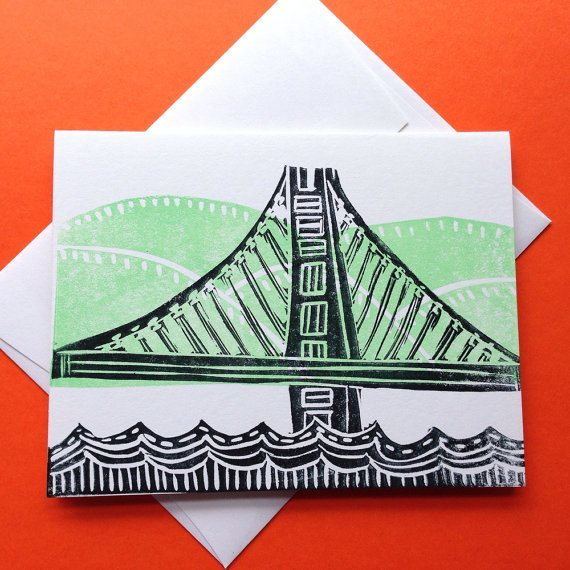 Oakland Bay Bridge Greeting Card