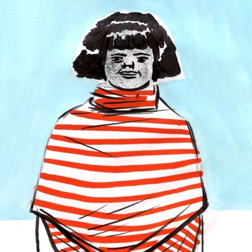 Woman with Striped Shawl